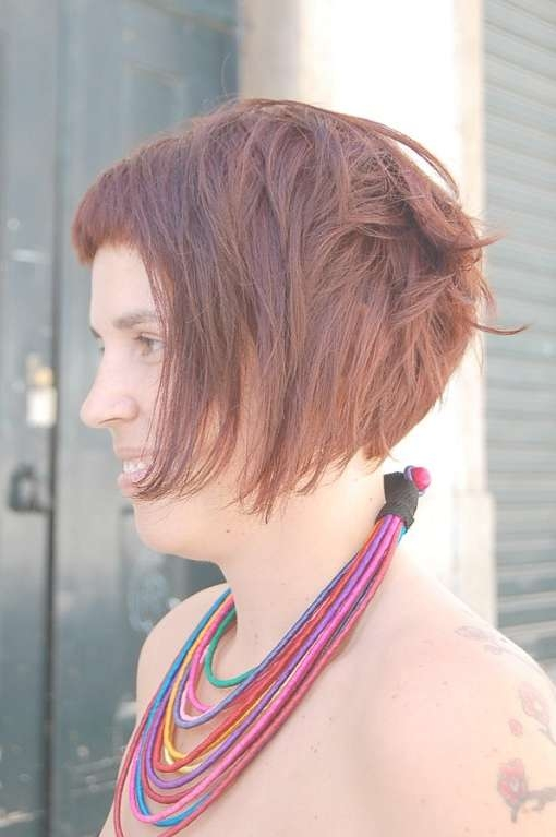 Swirly, Curvy Fringed Bob Cut & Bright Brown Colour – Hairstyles With Regard To Newest Medium Haircuts For Curvy Women (View 22 of 25)