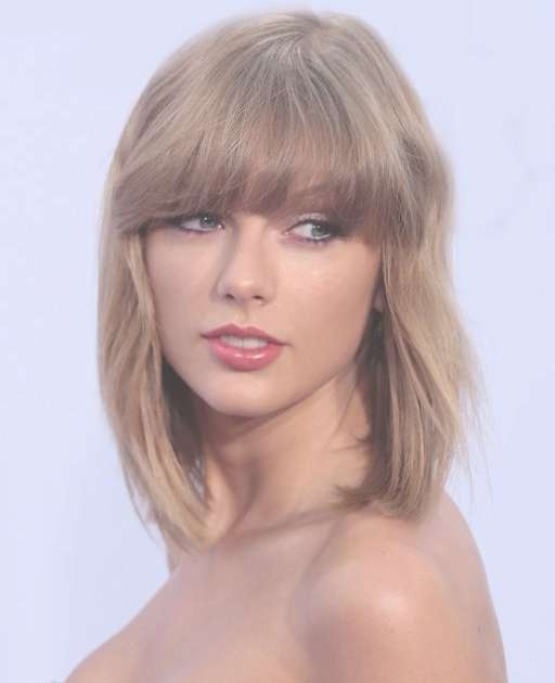 Taylor Swift Long Bob Haircuts | Full Dose Within Most Up To Date Taylor Swift Medium Hairstyles (View 11 of 25)