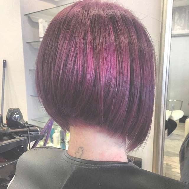 Textured Graduated Bob Hairstyle Color Ideas Pretty Designs Inside Graduated Bob Hairstyles (View 10 of 25)