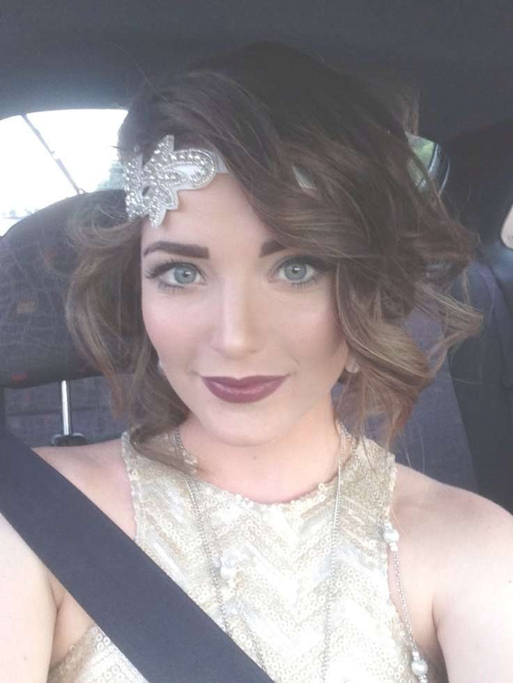 The 25+ Best Flapper Hairstyles Ideas On Pinterest | Gatsby Hair For Recent Medium Haircuts With Headbands (View 17 of 25)