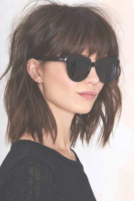 The 25+ Best Full Fringe Hairstyles Ideas On Pinterest | Bob With Inside Current Ladies Medium Hairstyles With Fringe (View 12 of 15)