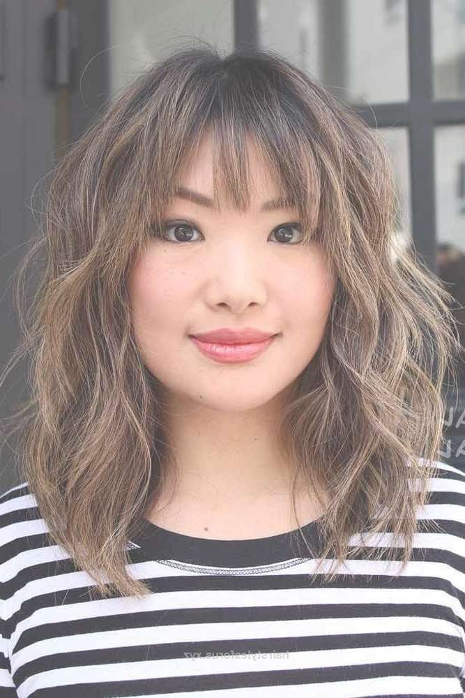 The 25+ Best Medium Hairstyles With Bangs Ideas On Pinterest For Best And Newest Medium Hairstyles With Bangs (View 21 of 25)