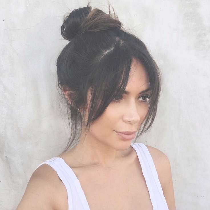 The 25+ Best Middle Part Bangs Ideas On Pinterest | Middle Parting Regarding Best And Newest Long Hairstyle With Fringe (View 12 of 25)
