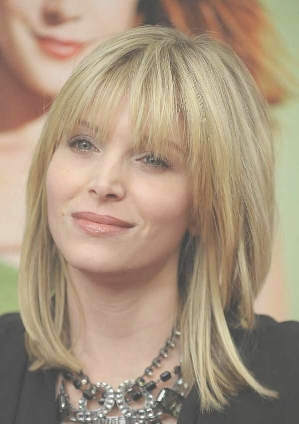 Image Gallery Of Medium Hairstyles With Side Bangs For Round Faces
