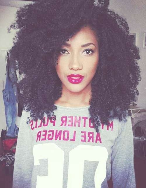 The 25+ Best Short Curly Afro Ideas On Pinterest | Curly Afro Hair In Current Medium Haircuts For Curly Black Hair (View 13 of 25)