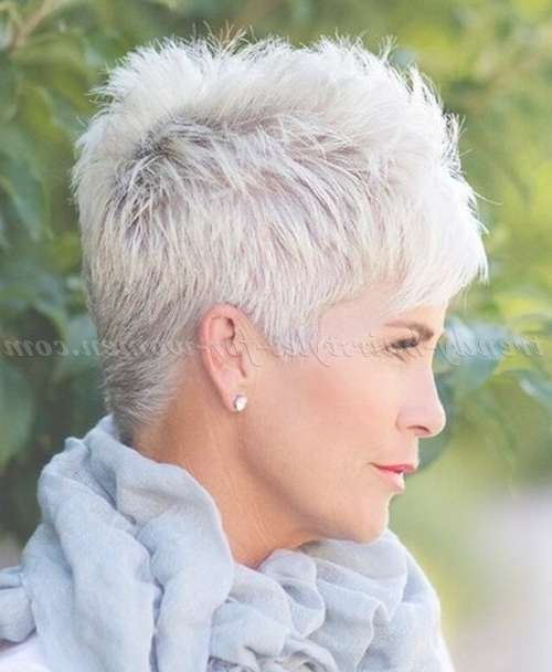 The 25+ Best Short Gray Hair Ideas On Pinterest | Grey Pixie Hair With Most Recent Medium Hairstyles For Grey Haired Woman (View 23 of 25)