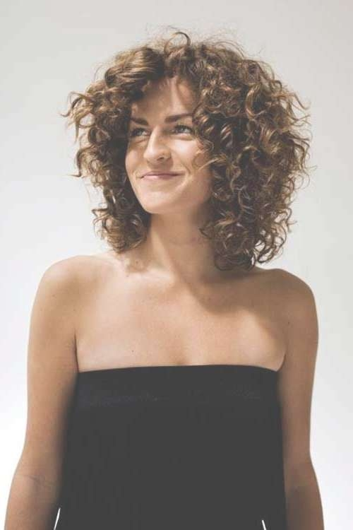 The 25+ Best Shoulder Length Curly Hairstyles Ideas On Pinterest Within 2018 Medium Hairstyles For Very Curly Hair (View 3 of 15)
