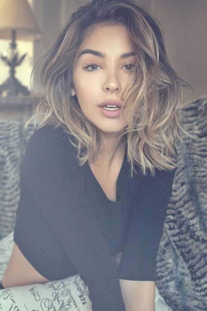 The 25+ Best Thick Wavy Haircuts Ideas On Pinterest | Short Thick Throughout Most Popular Medium Haircuts For Oval Faces And Thick Hair (View 20 of 25)