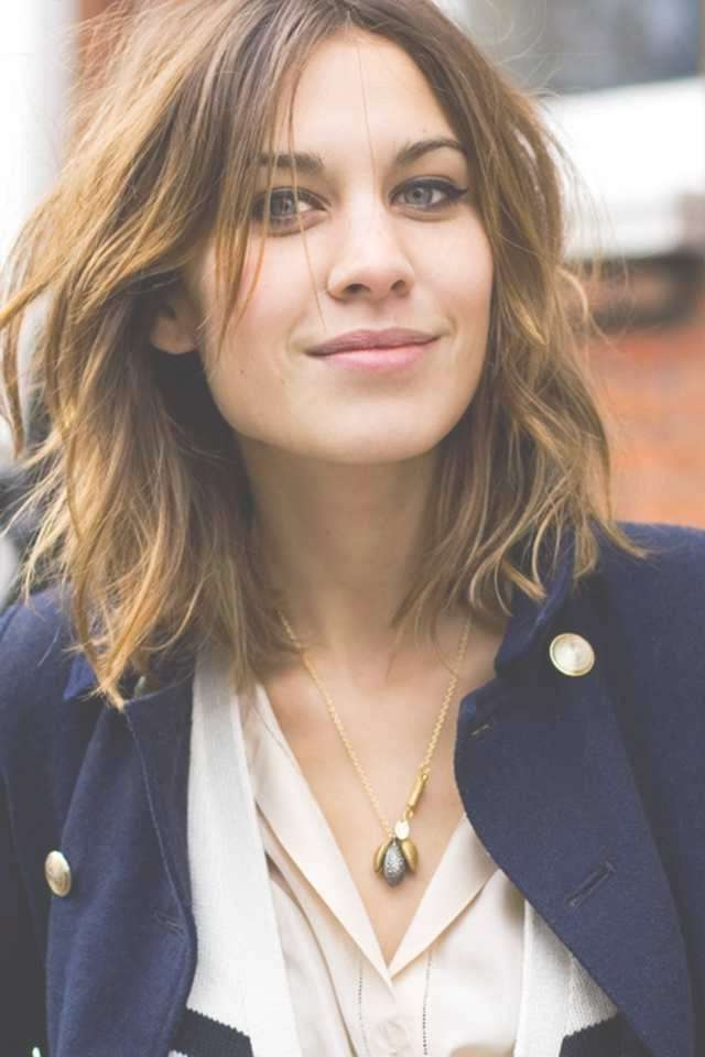 The 25+ Best Thin Hair Bangs Ideas On Pinterest | Thin Hair Cuts In 2018 Messy Medium Haircuts For Women (View 25 of 25)