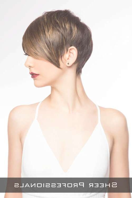 The 27 Ultimate Short Hairstyles For Long Faces Inside Current Pixie Layered Medium Haircuts (View 14 of 25)