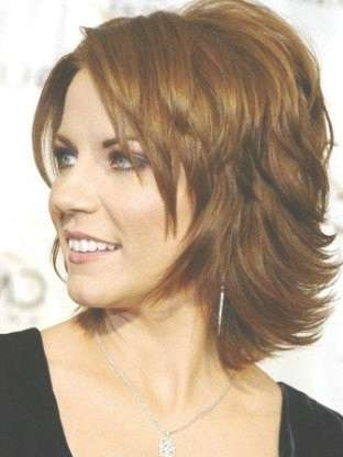 The Best Medium Length Hairstyles For Women Over 40 | Crea Tivas Inside Recent Medium Hairstyles For Thick Hair Over  (View 15 of 15)