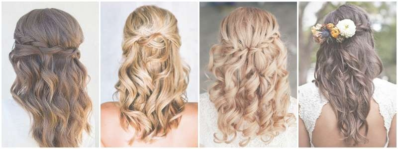 The Best Wedding Hairstyles That Will Leave A Lasting Impression Pertaining To Most Recently Wedding Half Up Medium Hairstyles (View 6 of 25)