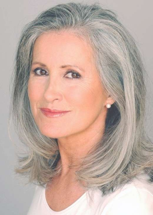 The Silver Fox: Stunning Gray Hair Styles   Bellatory Inside Newest Medium Hairstyles For Gray Hair (View 9 of 25)