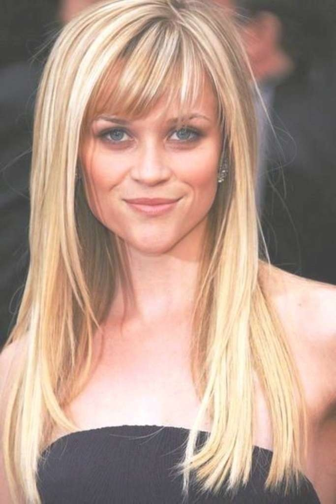 Top 10 Best Hairstyles For Big Foreheads Female With Most Recently Medium Hairstyles With Big Bangs (View 15 of 15)