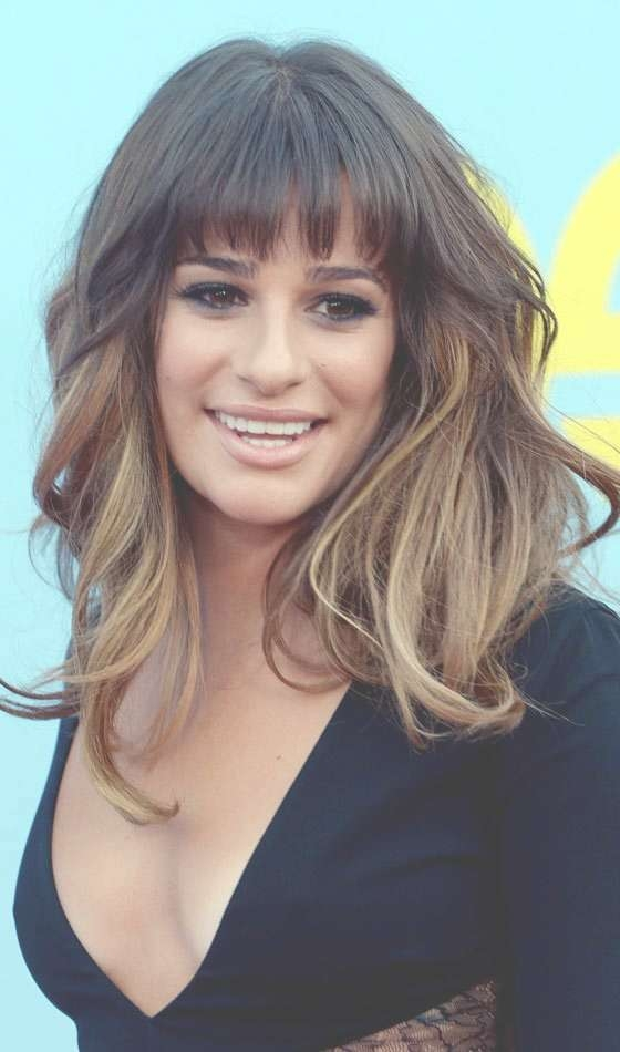 Top 10 Layered Hairstyles For Shoulder Length Hair Intended For Most Recent Full Fringe Medium Hairstyles (View 16 of 25)