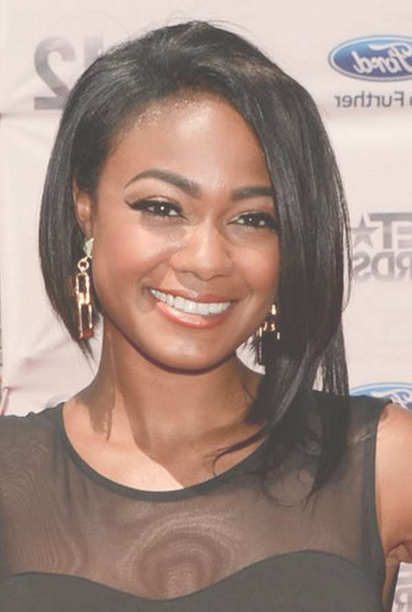 Gallery Of Medium Haircuts For African American Women With Round