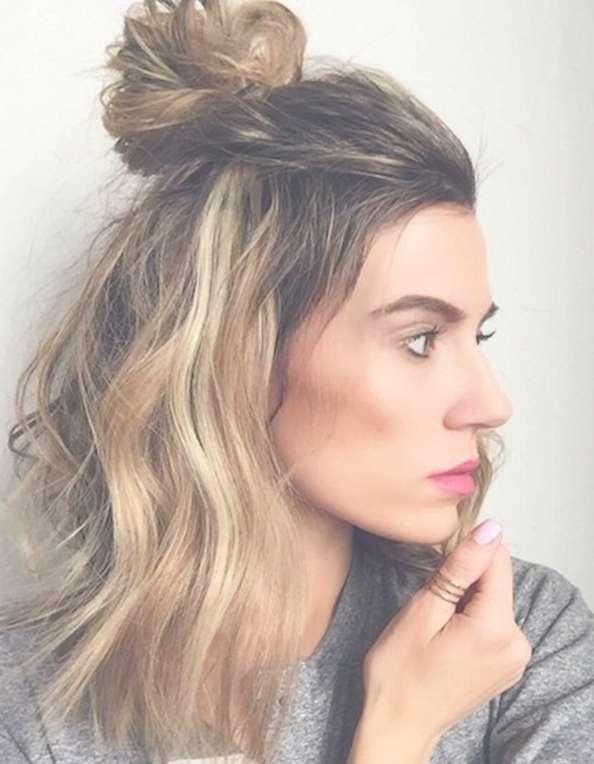 Top 16 Medium Length Half Up Half Down Hairstyles 2017 For Newest Half Short Half Medium Haircuts (View 6 of 25)