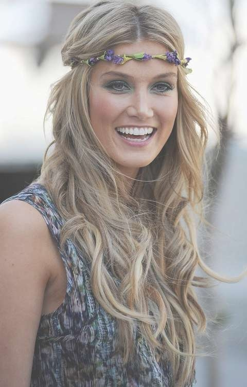 Top 17 Delta Goodrem Hairstyles – Pretty Designs Throughout Most Recently Medium Haircuts With Headbands (View 11 of 25)