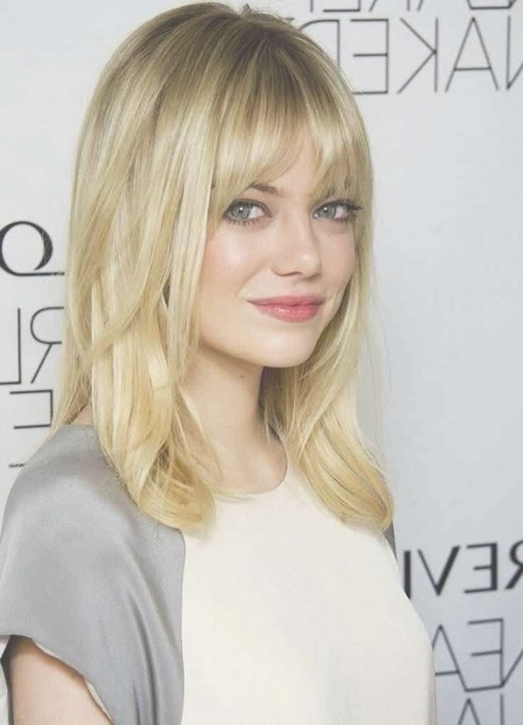 Top 20 Medium Length Hairstyles With Bangs For Round Faces Regarding Newest Round Face Medium Hairstyles With Bangs (View 8 of 25)