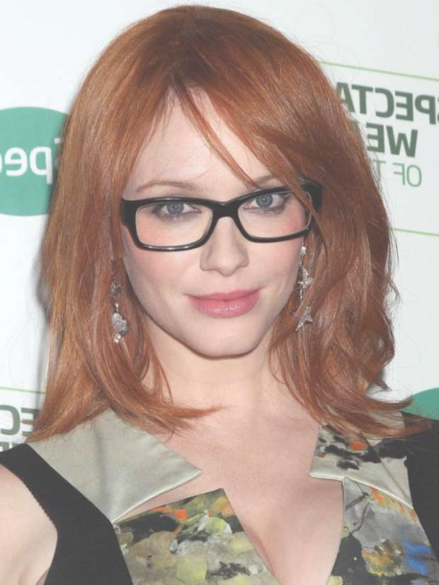 Top 30 Hairstyles With Bangs And Glasses, The Perfect Combination For Most Up To Date Medium Hairstyles With Glasses (View 12 of 25)
