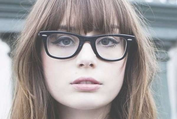 Top 30 Hairstyles With Bangs And Glasses, The Perfect Combination In Most Recently Medium Haircuts With Bangs And Glasses (View 2 of 25)