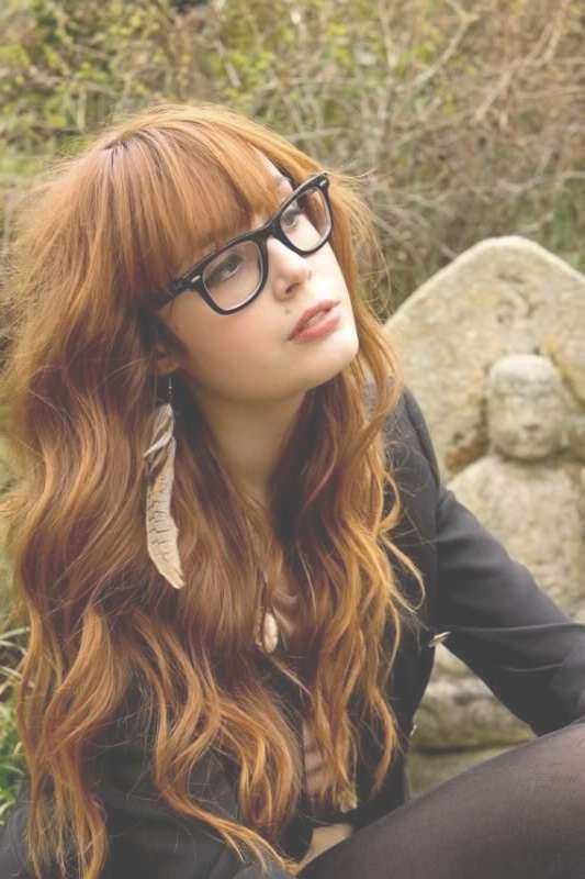 Top 30 Hairstyles With Bangs And Glasses, The Perfect Combination Inside Current Medium Haircuts With Bangs And Glasses (View 11 of 25)