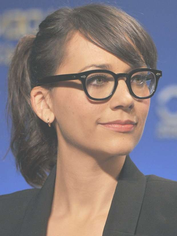 Top 30 Hairstyles With Bangs And Glasses, The Perfect Combination Regarding Best And Newest Medium Haircuts With Bangs And Glasses (View 12 of 25)