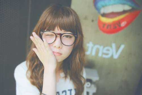 Top 30 Hairstyles With Bangs And Glasses, The Perfect Combination Within Most Popular Medium Haircuts With Bangs And Glasses (View 24 of 25)