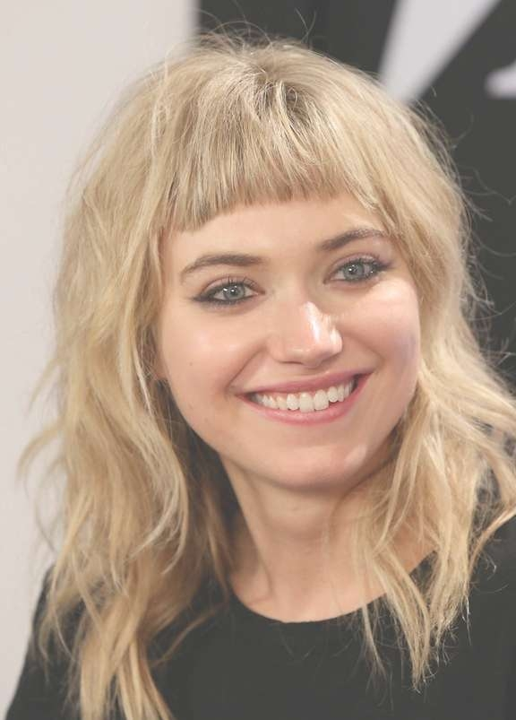 Top 34 Best Short Hairstyles With Bangs For Round Faces With Regard To Newest Medium Haircuts With Bangs For Round Faces (View 12 of 25)