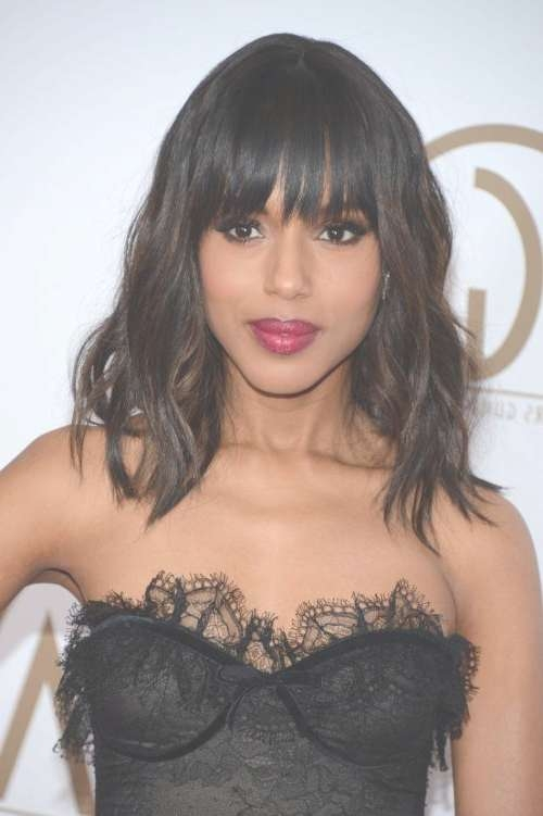 Top 40 Best Hairstyles For Thick Hair | Styles Weekly Inside Best And Newest Black Medium Hairstyles With Bangs And Layers (View 18 of 25)