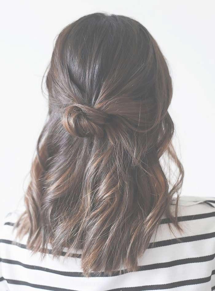 Trend Stalk: The Half Up Bun (40 Photos) 2018   Hairstyle Guru Throughout Most Current Medium Hairstyles Half Up (View 15 of 25)