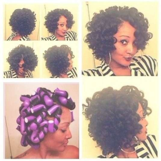 Tried Flexi Rods Yet? 20 Gorgeous Flexi Rod Sets We Are Loving Inside Most Popular Medium Haircuts For Transitioning Hair (View 25 of 25)