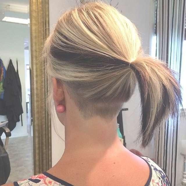 Undercut Hairstyle Women Medium Length Inside Recent Undercut Medium Hairstyles For Women (View 7 of 25)
