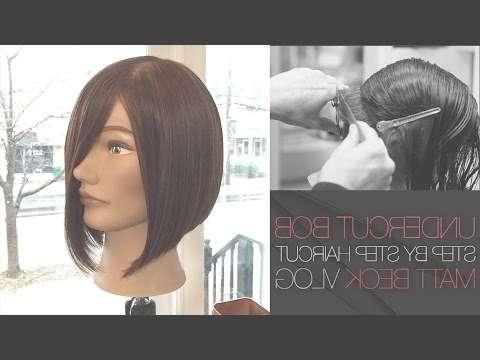 Undercut One Length A Line Bob Haircut Stepstep – Matt Beck Within One Length Bob Haircuts (View 25 of 25)