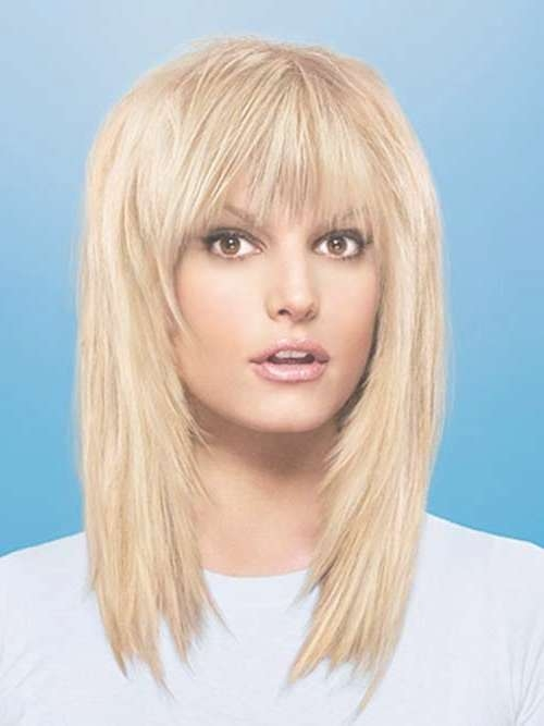 Understanding The Secret Behind Of Having Medium Length Hairstyle Pertaining To Most Popular Medium Haircuts With Full Bangs (View 15 of 25)