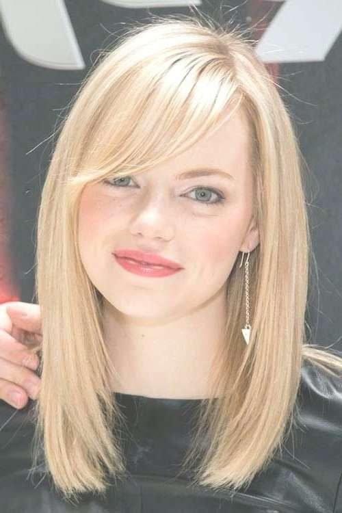 Explore Gallery of Medium Haircuts With Bangs For Round Face ...