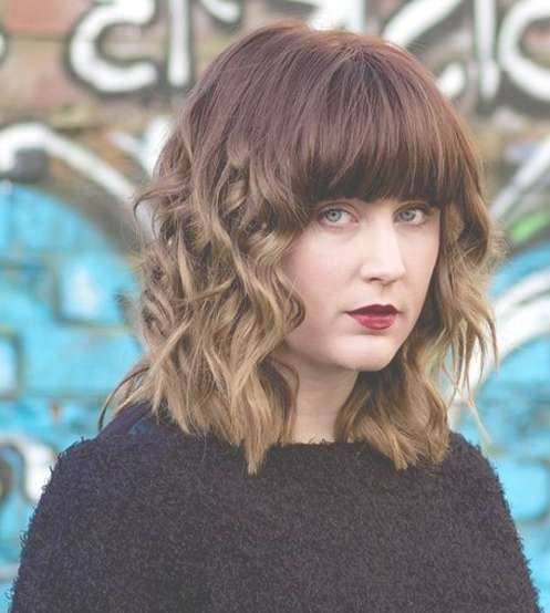 Unique Curly Bob Hairstyles 2015 With Bangs   Styles Time Regarding Unique Bob Hairstyles (View 22 of 25)