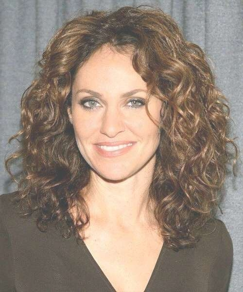 Unique Cuts Curly Medium Hairstyles For Round Faces Medium Length Inside Best And Newest Medium Hairstyles With Bangs And Layers For Round Faces (View 24 of 25)