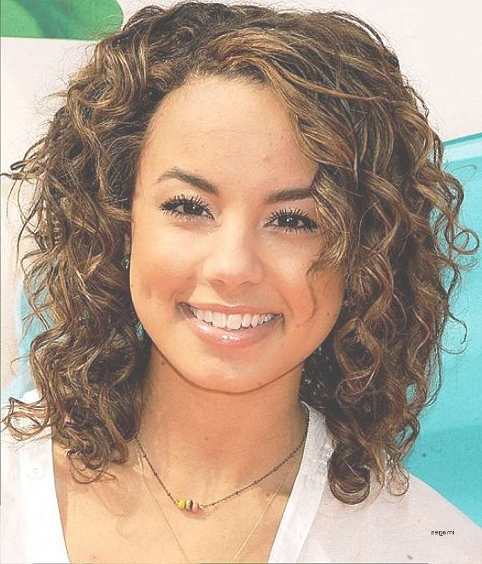 Showing Gallery Of Medium Haircuts For Curly Hair And Round Face