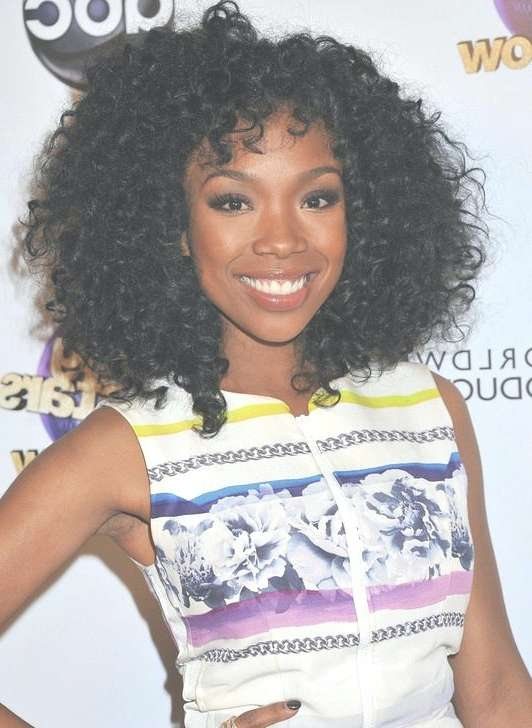 Unique Natural Curly Hairstyles For Long Hair Curly Hairstyles For Regarding Latest Medium Haircuts For Curly Black Hair (View 4 of 25)