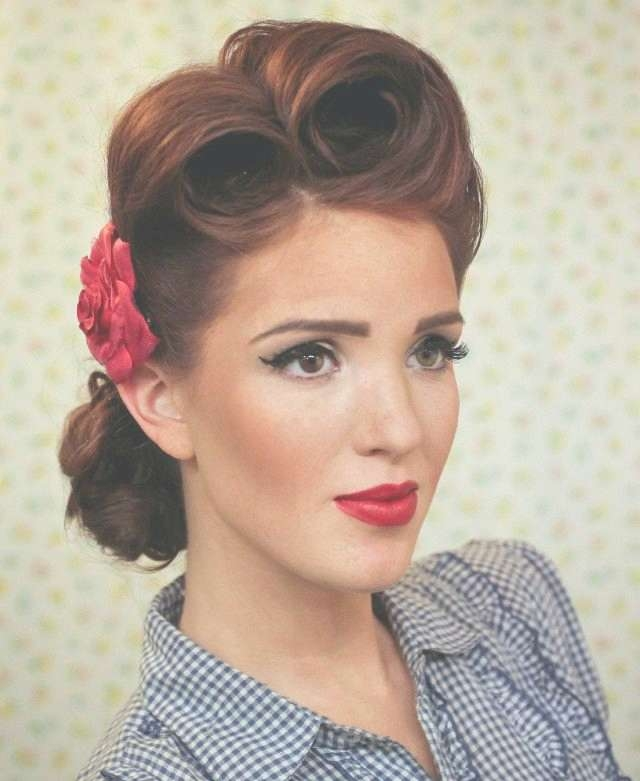 Unique S Hairstyles For Long Hair Pinterest Fifties Hairstyles For Intended For Most Current Fifties Medium Hairstyles (View 11 of 25)