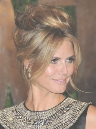 Updo Hairstyles For Women With Big Ears 115462 | Heidi Klum With Inside Best And Newest Medium Hairstyles For Women With Big Ears (View 6 of 15)