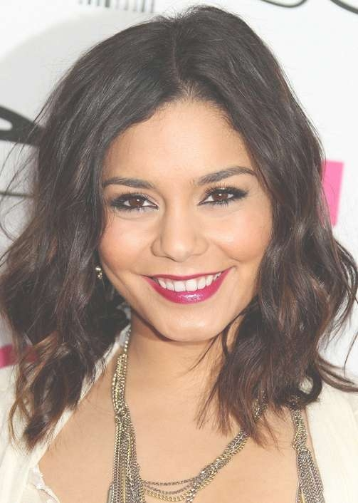 Vanessa Hudgens Medium Hairstyle: Curls With Side Part – Pretty Intended For Newest Medium Hairstyles Side Part (View 21 of 25)
