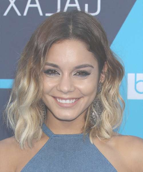 Vanessa Hudgens Medium Wavy Casual Hairstyle – Medium Brunette With Most Current Vanessa Hudgens Medium Hairstyles (View 13 of 25)