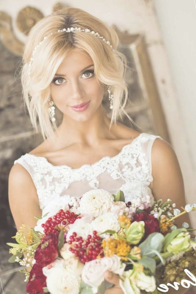 Wedding Hairstyle For Medium Hair With Regard To Most Popular Wedding Medium Hairstyles (View 4 of 25)