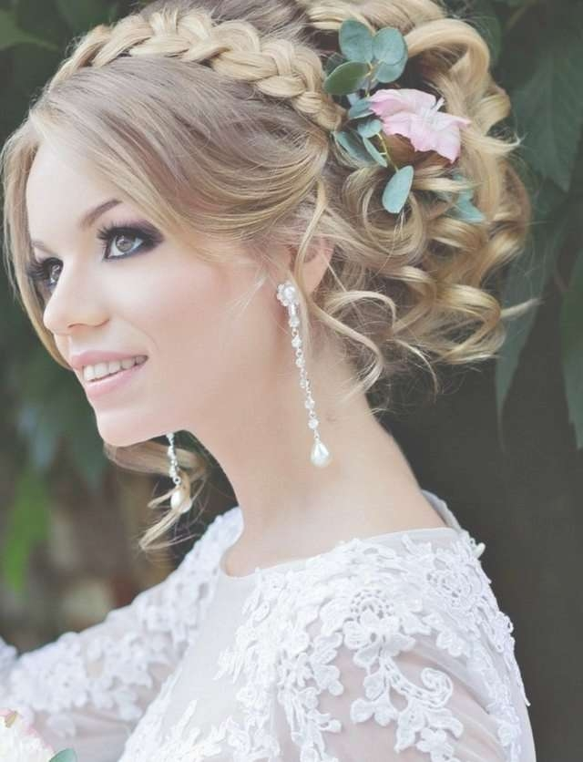 Wedding Hairstyle For Medium Hair With Regard To Most Up To Date Bridal Medium Hairstyles (View 11 of 25)