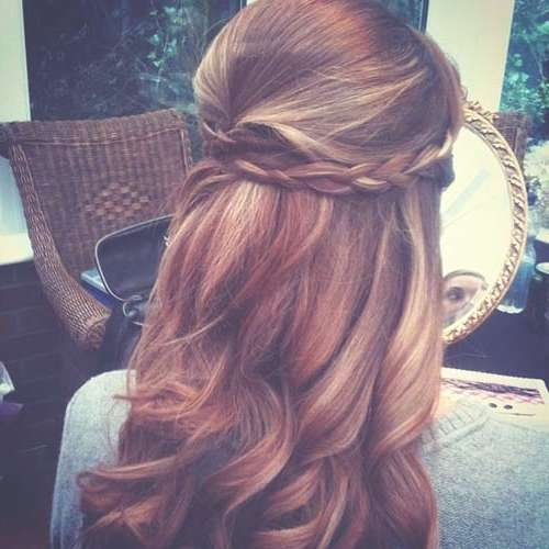 Wedding Hairstyles For Medium Length Hair Half Up Half Down In Most Up To Date Wedding Half Up Medium Hairstyles (View 8 of 25)
