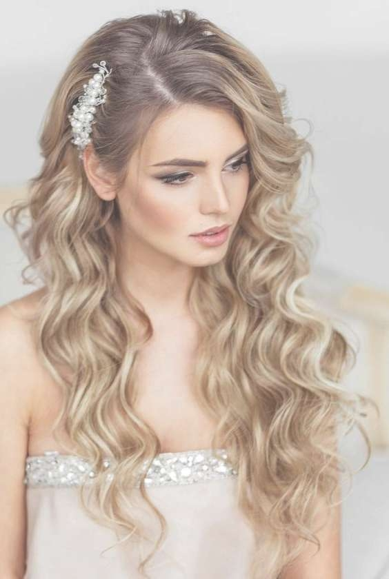 Wedding Hairstyles For Straight Long Hair Down – Hairstyles Throughout Best And Newest Wedding Long Down Hairstyles (View 15 of 25)