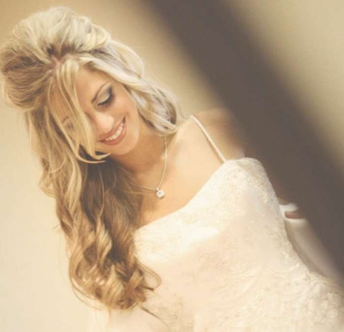 Wedding Hairstyles Ideas: Curly Half Up Hairstyles For Long Hair Within 2018 Wedding Half Up Medium Hairstyles (View 20 of 25)