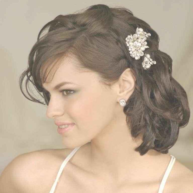 Wedding Hairstyles Ideas: Side Ponytail Elegant Up Do Medium Within Newest Wedding Medium Hairstyles (View 23 of 25)